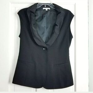 CAbi Dinner Vest Size 4 Black Sleeveless Blazer
